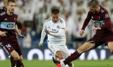 احصاءات من مباراة ريال مدريد وسيلتا فيغو