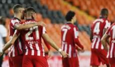 أتلتيكو مدريد يخطف الوصافة ويواصل مطاردة سوسييداد بفوزه امام فالنسيا