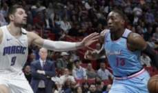 NBA: ميامي هيت يعزز وصافته بعد فوزه على اورلاندو