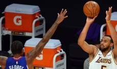 NBA: الليكرز يتفوق للمرة الثانية على الكليبرز في مباريات ما قبل الموسم