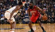 NBA: الروكتس يعمق جراحات الواريرز وسكرامنتو يتفوق على ميمفيس