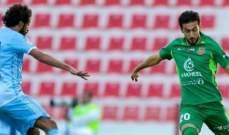 فوز صعب لشباب الاهلي على حتا في دوري الخليج العربي الاماراتي
