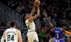 NBA: ميلووكي يبتعد في الصدارة شرقياً بعد الفوز ال 12 المتتالي