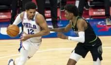 NBA: فيلادلفيا يتساوى في الصدارة شرقياً مع بروكلين