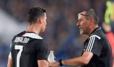 ساري: رونالدو يستطيع اللعب مع هيغواين أو ديبالا وماندزوكيتش غائب بإتفاق مع الادارة
