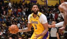 NBA: الليكرز يعزز صدارته شرقياً بفوز على ميمفيس غريزلرز