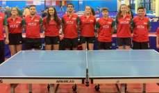نتائج البعثة اللبنانية في بطولة قبرص الدولية في كرة الطاولة