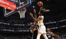NBA: سان انطونيو يُلحق الهزيمة الرابعة بالواريرز هذا الموسم