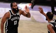 NBA: هاردن يقود بروكلين الى الفوز للمباراة الثانية على التوالي