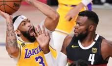 NBA: الليكرز على بعد خطوة من حسم لقب المجموعة الغربية