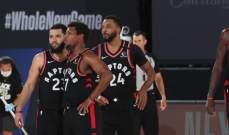 NBA: رابتورز يفوز على بوسطن ويعادل السلسلة