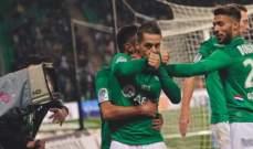 الليغ 1: فوز مستحق لـ سانت ايتيان على نيس وسقوط تولوز امام موناكو