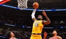 ليبرون جايمس اكبر لاعب يسجل ثلاثة ارقام مزدوجة في تاريخ NBA