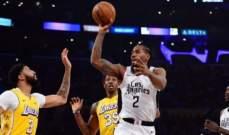 NBA: الواريرز يفوز للمرة الثالثة على التوالي والليكرز يسقط مجدداً امام الكليبرز