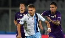 الدوري الإيطالي: فوز صعب للاتسيو على فيورنتينا