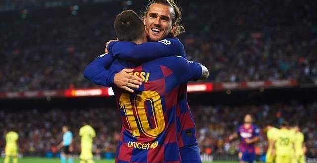 اهداف مباراة برشلونة وفياريال الثلاثة