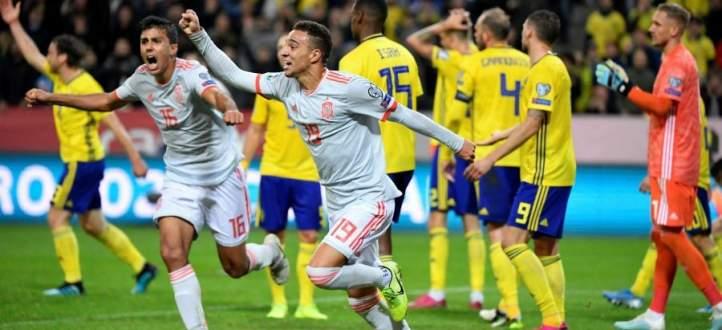 هدفا مباراة اسبانيا والسويد في تصفيات يورو 2020