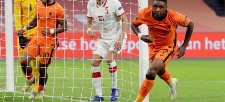 هدف هولندا في مرمى بولندا ضمن دوري امم اوروبا