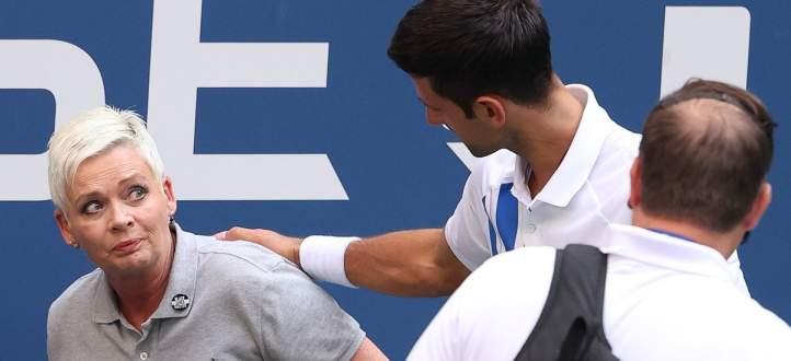 ديوكوفيتش يطرد من بطولة اميركا المفتوحة لكرة المضرب