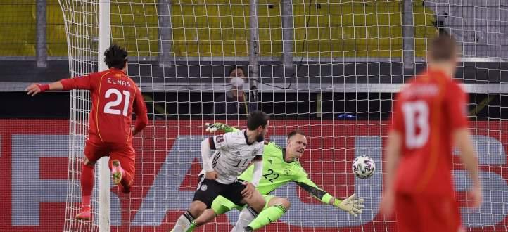 اهم مجريات المباراة بين ألمانيا ومقدونيا الشمالية