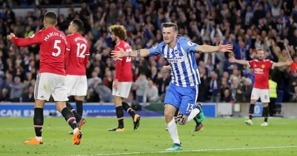 هدف برايتون في مرمى مانشستر يونايتد