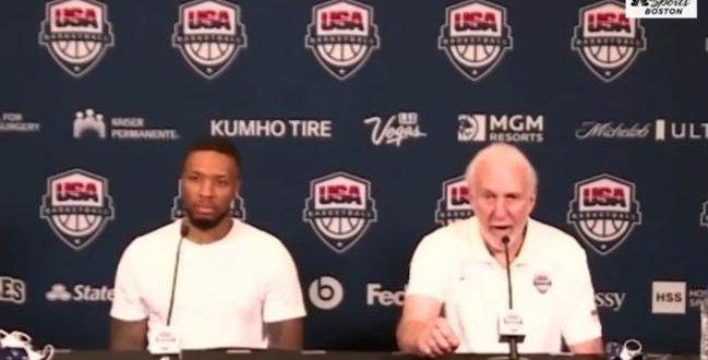 مدرب السلة الاميركي يصب غضبه على مراسل بعد الخسارة