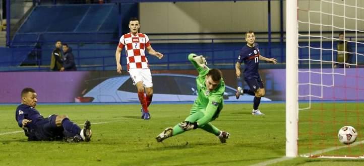 اهداف مباراة فرنسا وكرواتيا في تصفيات دوري امم اوروبا