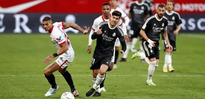 ملخص مواجهة ريال مدريد وإشبيلية