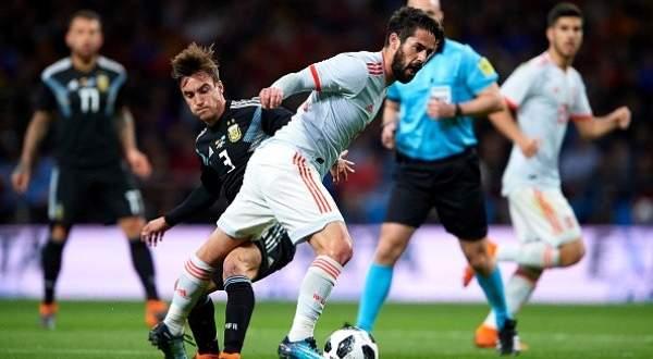 اهداف مباراة اسبانيا والارجنتين الودية