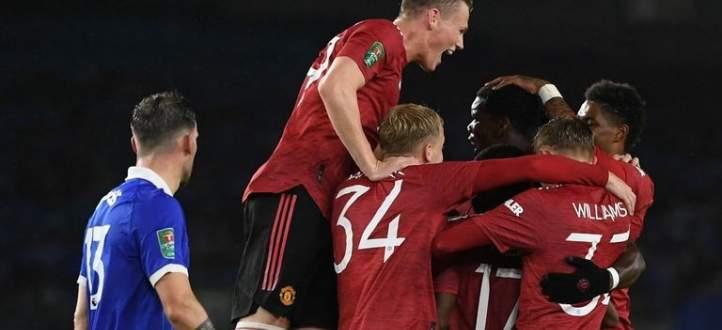اهداف مباراة مانشستر يونايتد وبرايتون في كاس كاراباو