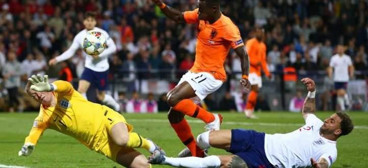 اهداف مباراة انكلترا وهولندا في نصف نهائي دوري امم اوروبا