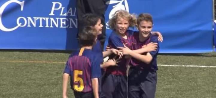 اهم مجريات مباراة برشلونة - ريال مدريد تحت ال10 اعوام