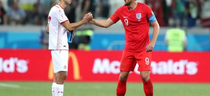 اهداف مباراة انكلترا وتونس في ختام اليوم الخامس من كاس العالم