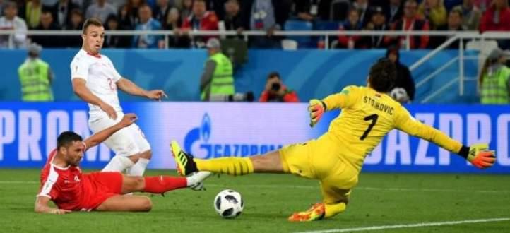 اهداف جميلة سجلت في مباراة صربيا وسويسرا