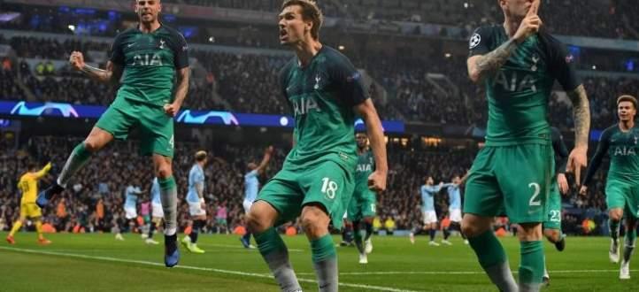 اهداف مباراة ربع نهائي الابطال بين توتنهام ومانشستر سيتي