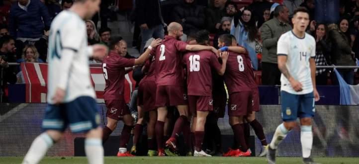اهداف مباراة الارجنتين وفنزويلا الاربعة