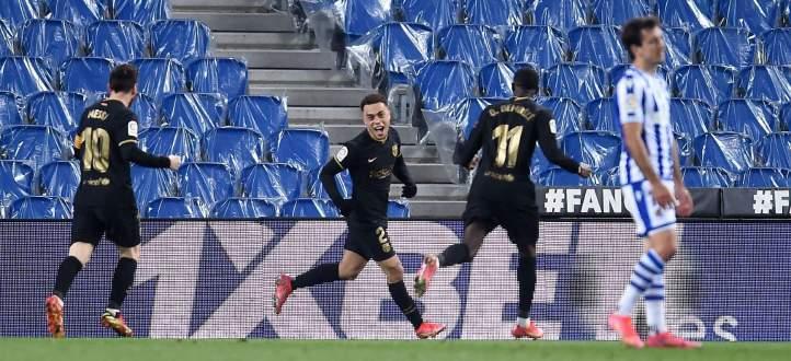 اهم مجريات المباراة بين برشلونة وريال سوسييداد