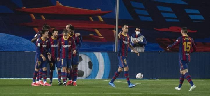 ابرز احداث مباراة برشلونة والافيس