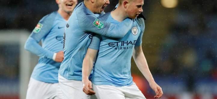 اهداف مباراة ليستر سيتي ومانشستر سيتي في كأس EFL