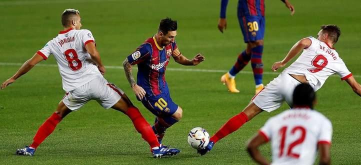 اهم مجريات مباراة برشلونة - إشبيلية
