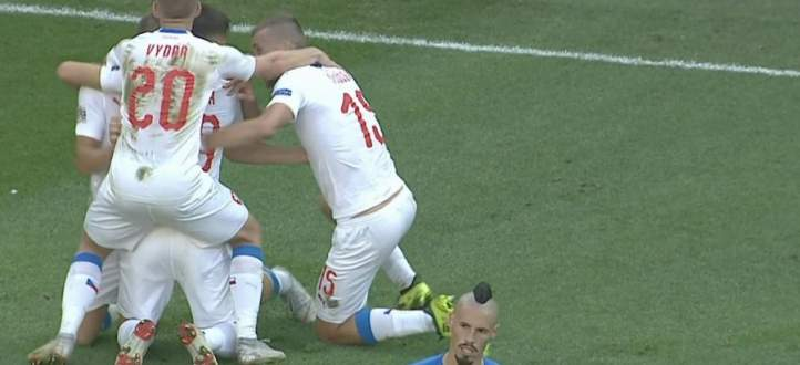 اهداف مباراة سلوفاكيا وتشيكيا