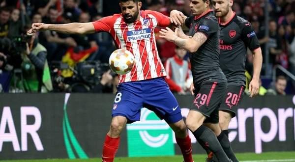هدف دييغو كوستا الوحيد في مباراة ارسنال واتلتيكو مدريد