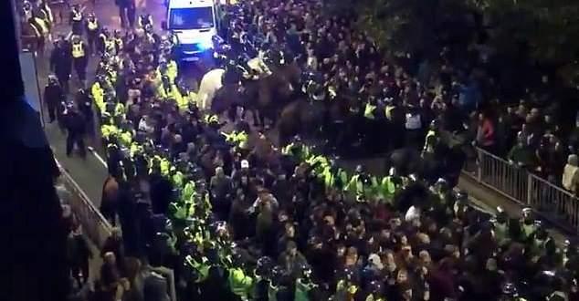 مشجع بورتثموث يهاجم حصان شرطي بعد مباراة ساوثامبتون