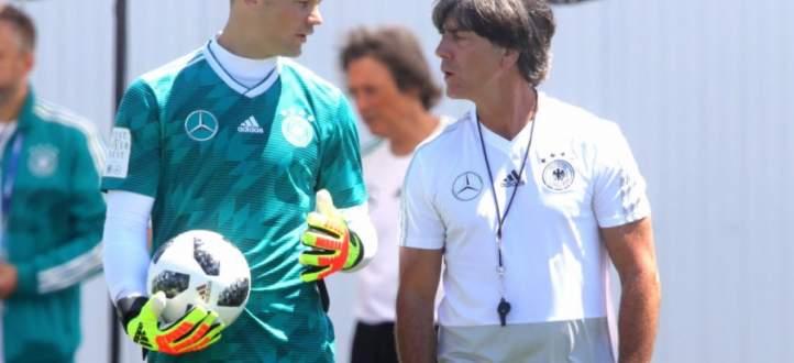 المنتخب الألماني يتدرّب قبيل مباراته الحاسمة مع نظيره السويدي