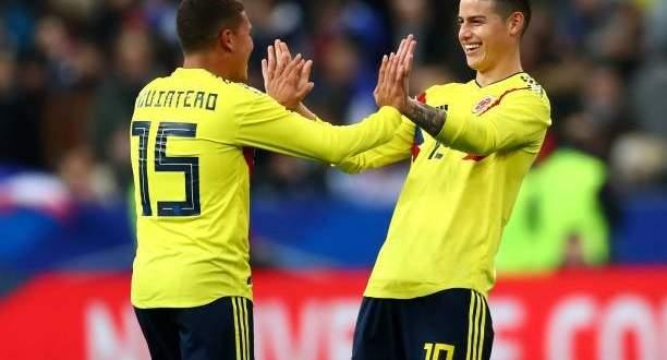 الجمهور الكولومبي سعيد بعد تخطي بولندا