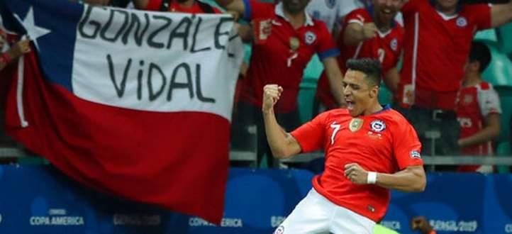أهداف مباراة تشيلي - اكوادور