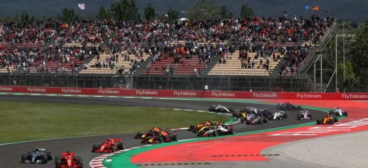 ابرز لقطات سباق جائزة برشلونة الكبرى