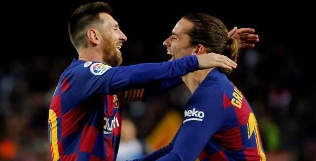 غريزمان يحصد جائزة افضل هدف في برشلونة