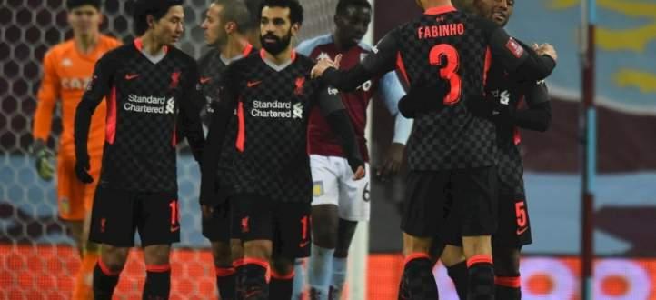 ابرز مجريات مباراة ليفربول واستون فيلا