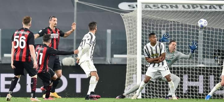 إحصاءات من مباراة يوفنتوس - ميلان